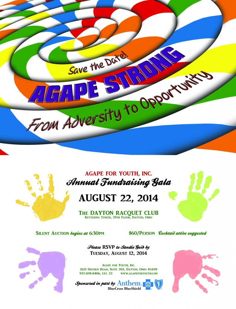 2014 Agape Fundraising Save the Date for SSN